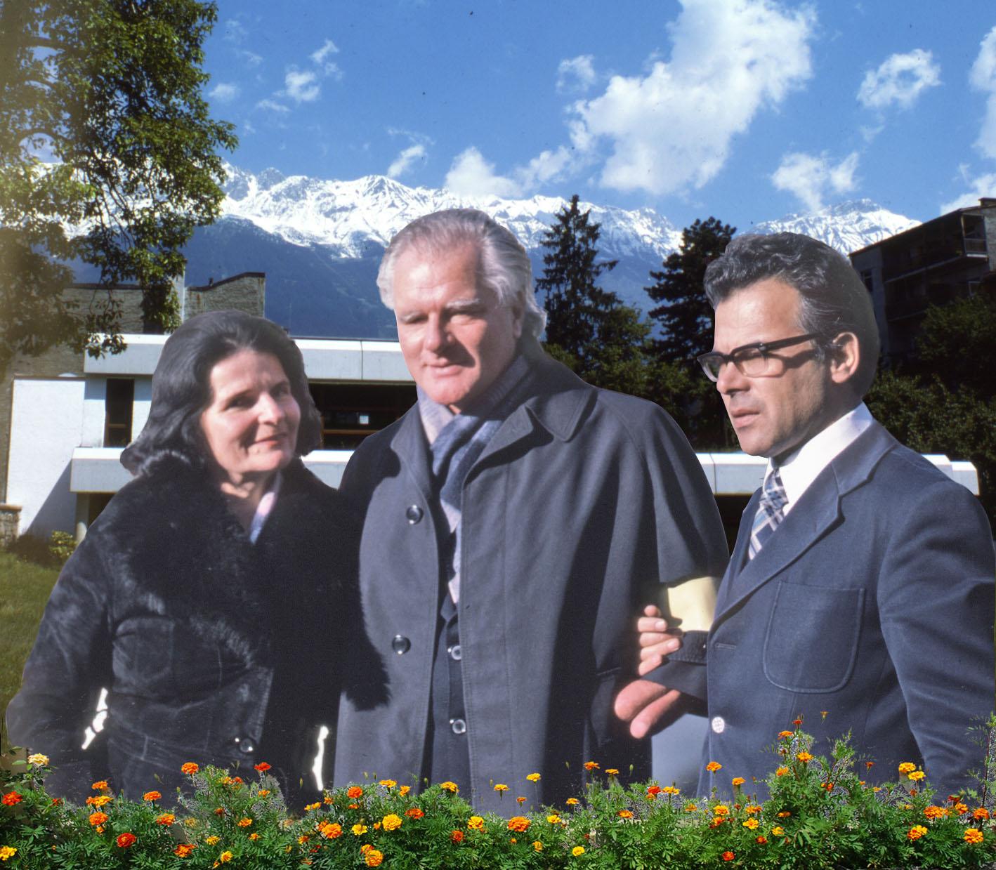 Gerda und Burkhard Heim mit P. Andreas Resch, Innsbruck