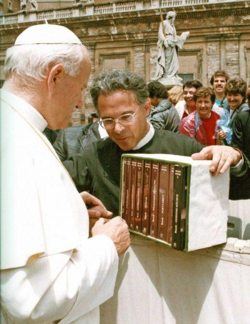 Papst Johannes Paul II. und P. Resch
