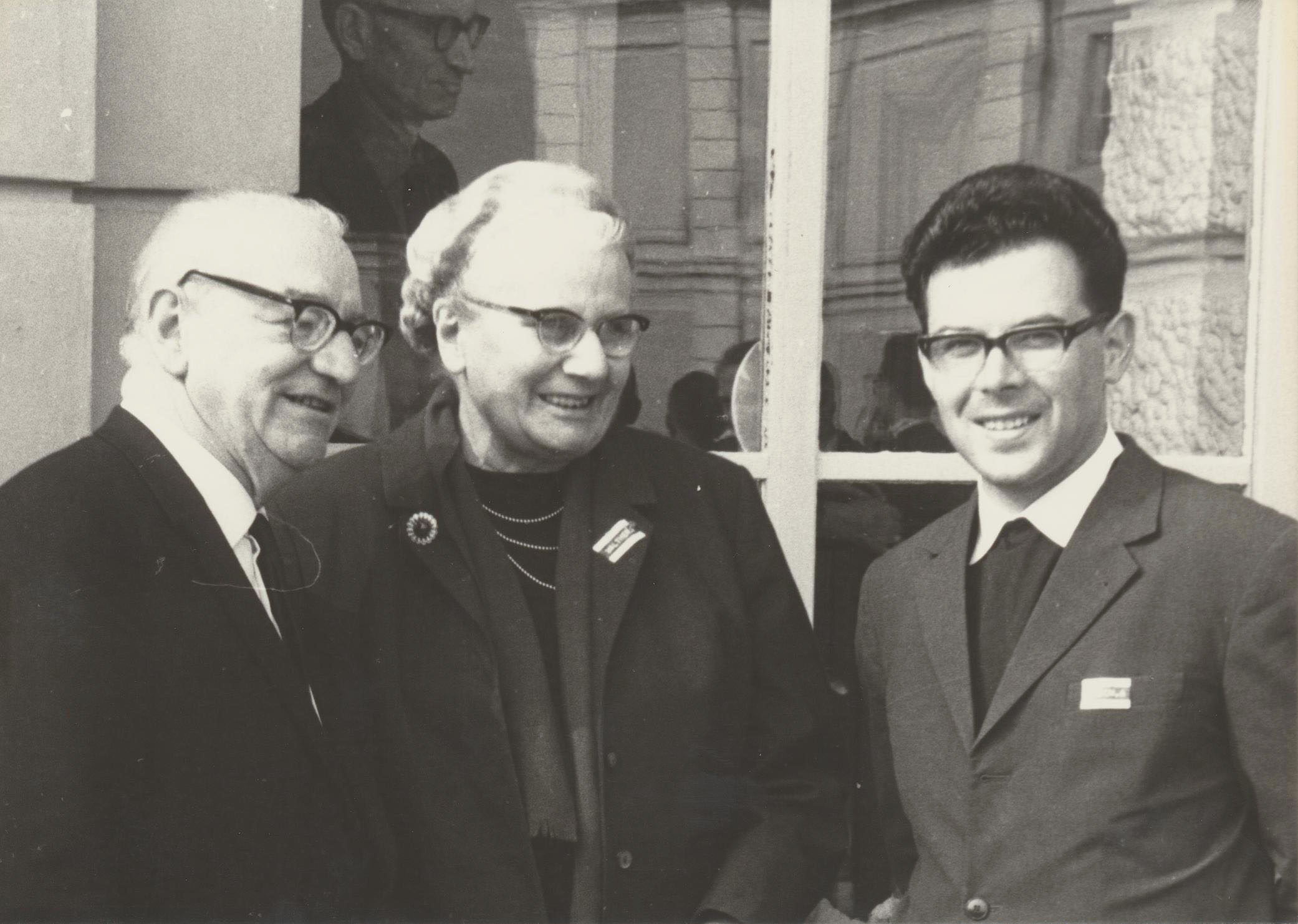 I. Internat. Imago Mundi-Kongress 1966, Prof. Dr. Gebhard Frei, Dr. Gerda Walther, Dr. Andreas Resch