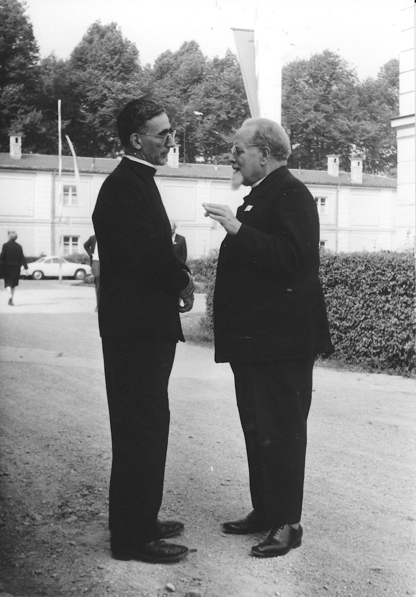 I. Internat. Imago Mundi-Kongress 1966 in Fürstenried bei München, Im Kraftfeld des christlichen Weltbildes,, Prof. DDDr. Masi und Prof. Dr. Matthias Hermanns