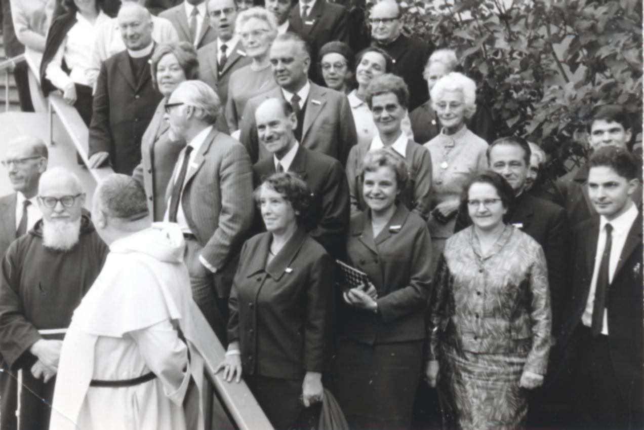 II. Internat. Imago Mundi-Kongress 1968, Luzern, P. Franz Josef Maus, OCap, Prof. Dr. Norbert M. Luyten, OP, Dr. Hans Naegeli-Osjord, Prof. Dr. Peter Hohenwarter, Dr. Giuseppe Crosa
