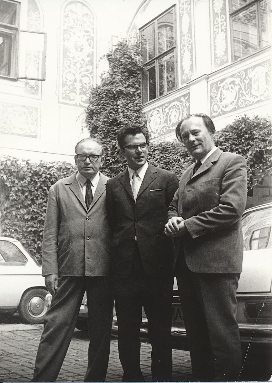 III. Internat. Imago Mundi-Kongress 1970, Puchberg, OÖ, Dr. Konstantin Raudive, Prof. DDr. Andreas Resch, Ing. Franz Seidl