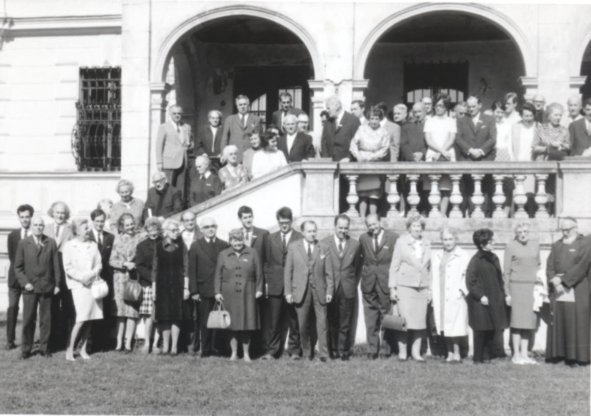 III. Internat. Imago Mundi-Kongress 1970, Puchberg, OÖ, Gruppenfoto