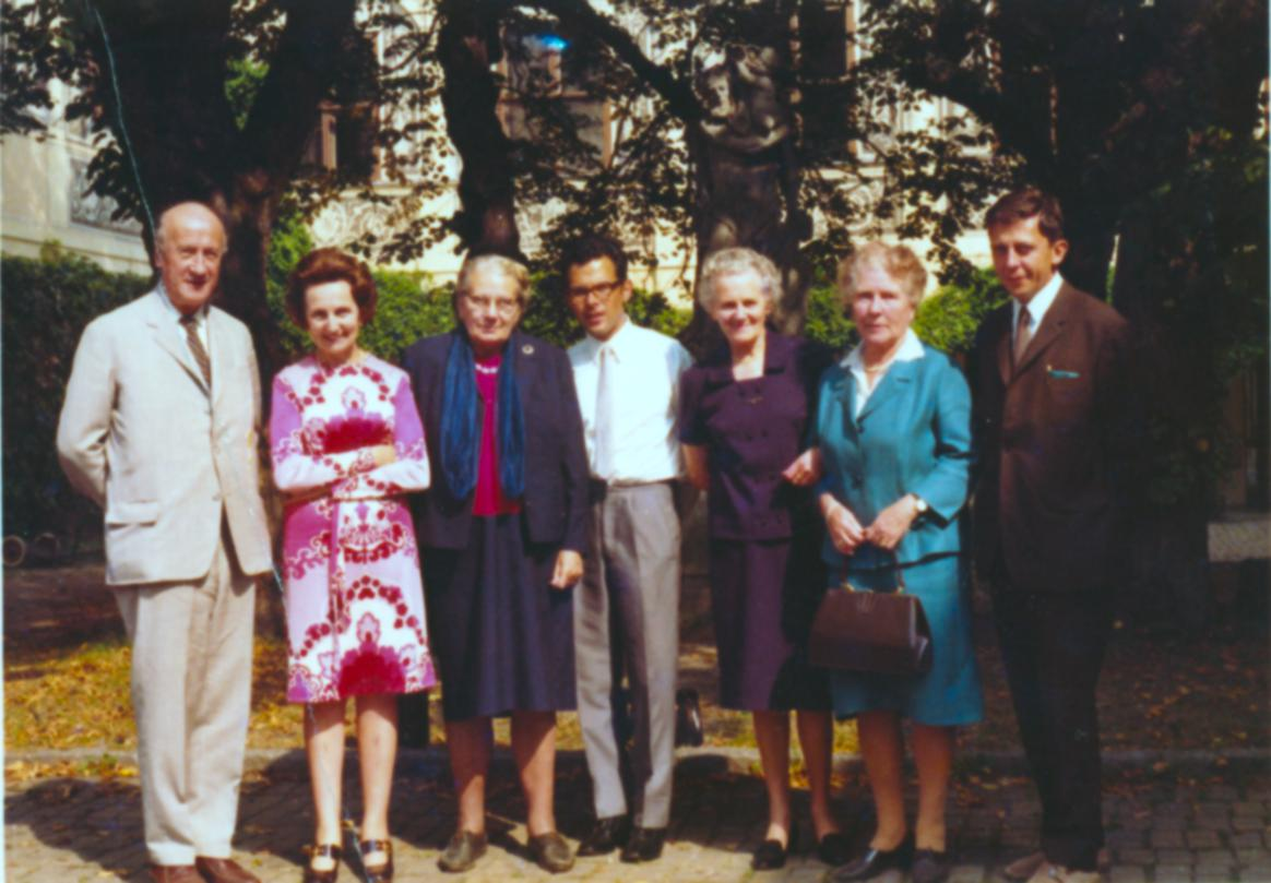 III. Internat. Imago Mundi-Kongress 1970, Puchberg, OÖ, dritte von links Dr. Gerda Walther, daneben Prof. Resch, Minka Honeck, rechts außen Prof. Jörg Klima