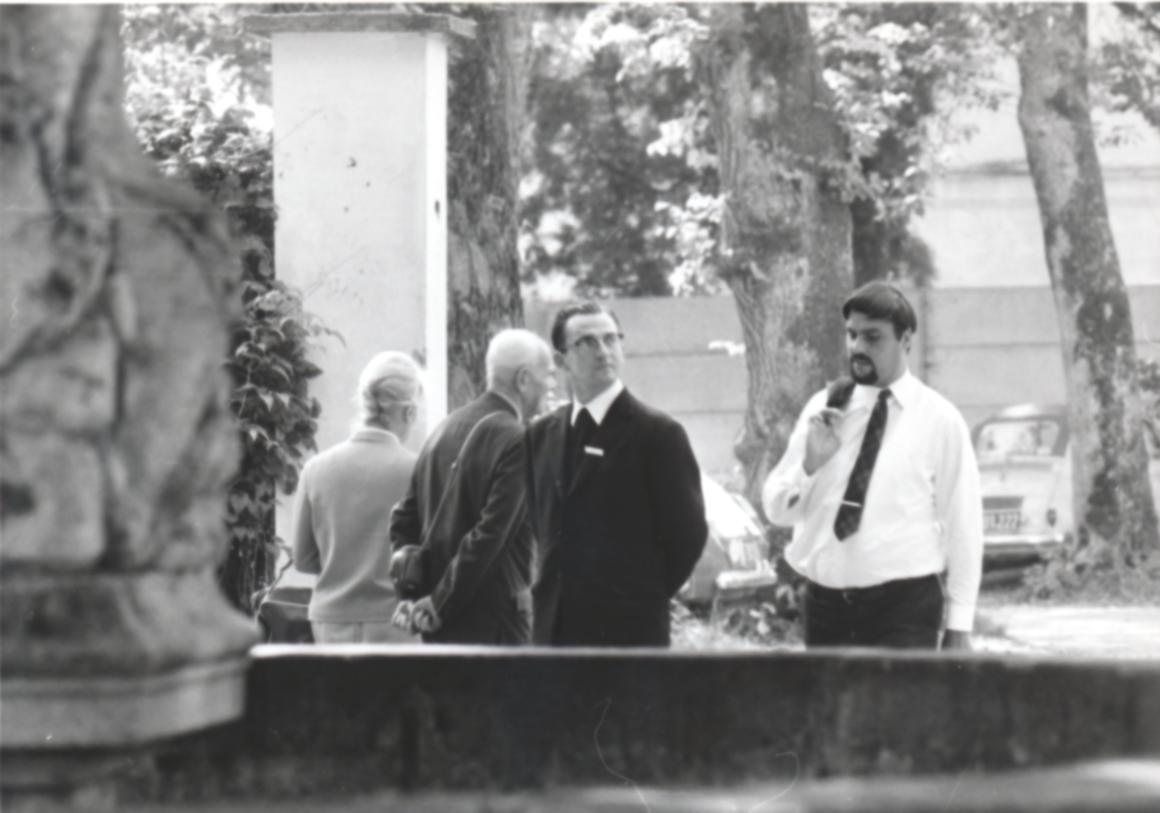 III. Internat. Imago Mundi-Kongress 1970, Puchberg, OÖ, in der Mitte P. Ferdinand Zahlner
