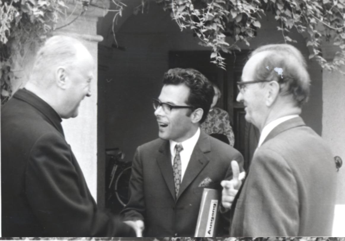 III. Internat. Imago Mundi-Kongress 1970, Puchberg, OÖ, von links Bischof Zauner, Prof. Resch, Prof. Sven Krohn