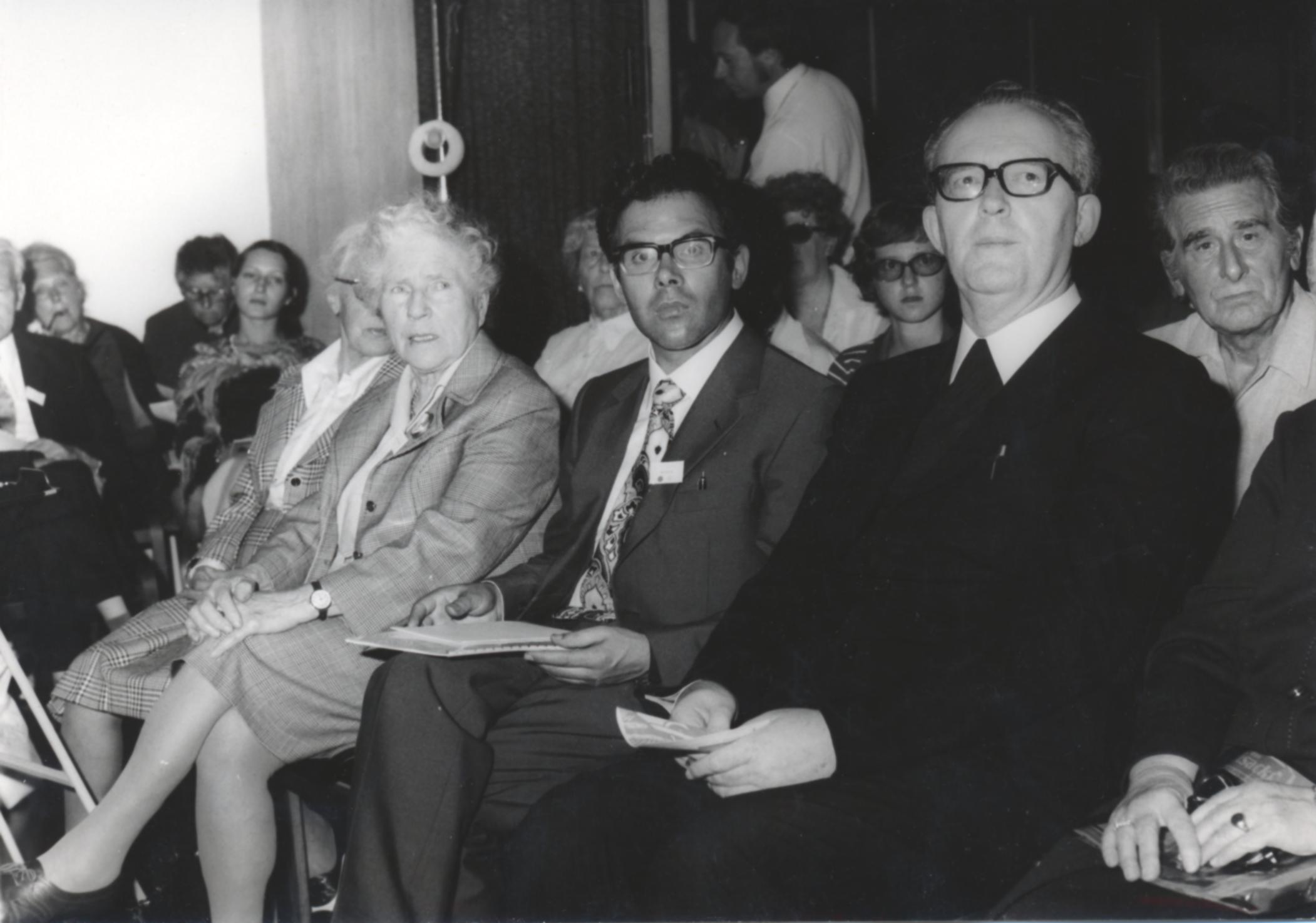 V. Internat. Imago Mundi-Kongress 1974, Cusanus Akademie, Brixen, Prof. Andreas Resch neben Bischof Josef Gargitter