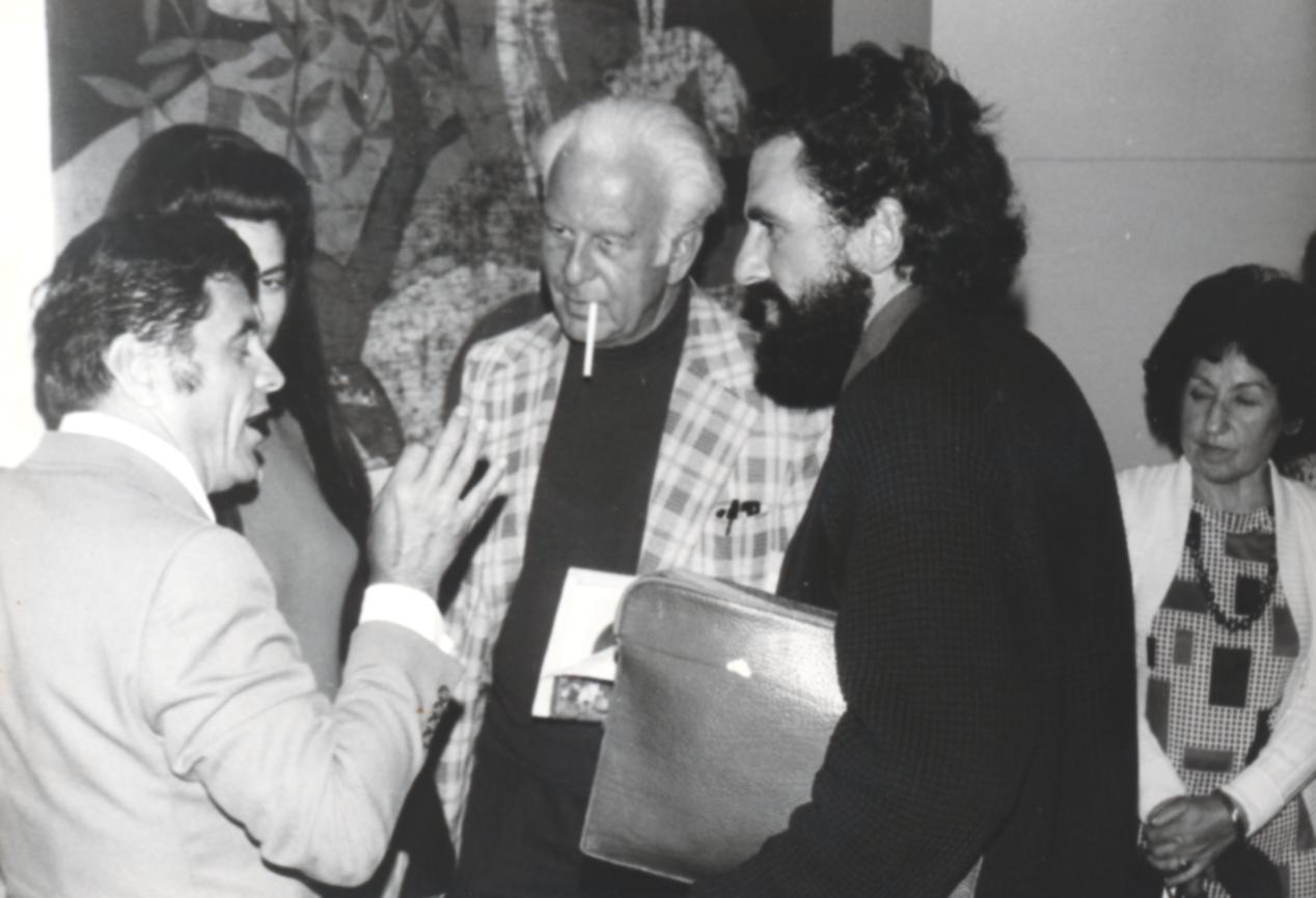 VI. Imago Mundi Kongress 1976, Haus St. Ulrich, Augsburg, von links Dr. Harald Richter, Dr. Heinz Berendt, Matthias Güldenstein