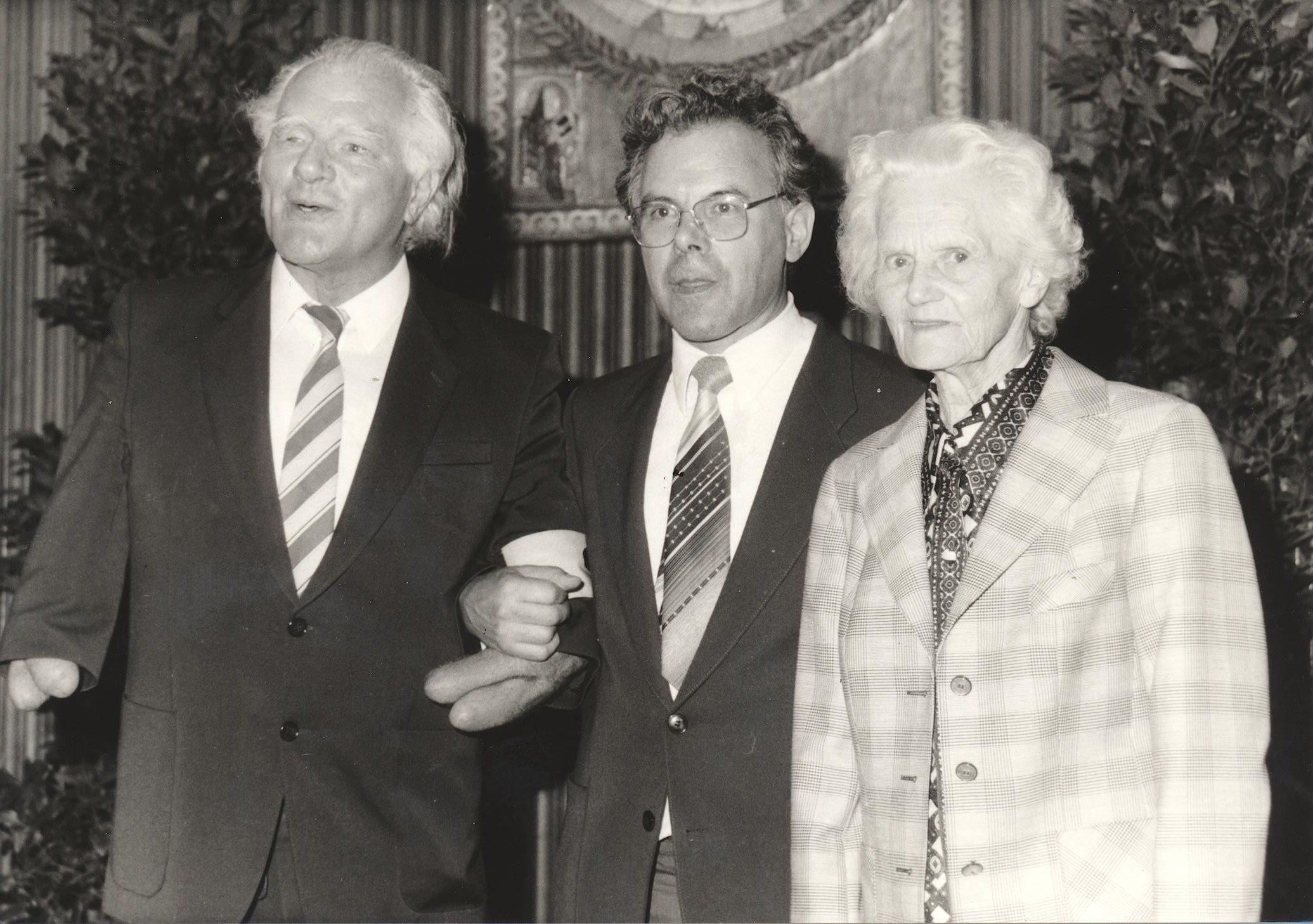VIII. Internat. Imago Mundi-Kongress 1980, Innsbruck, Dipl.-Phys. Burkhard Heim, Prof. DDr. Andreas Resch, Minka Honeck
