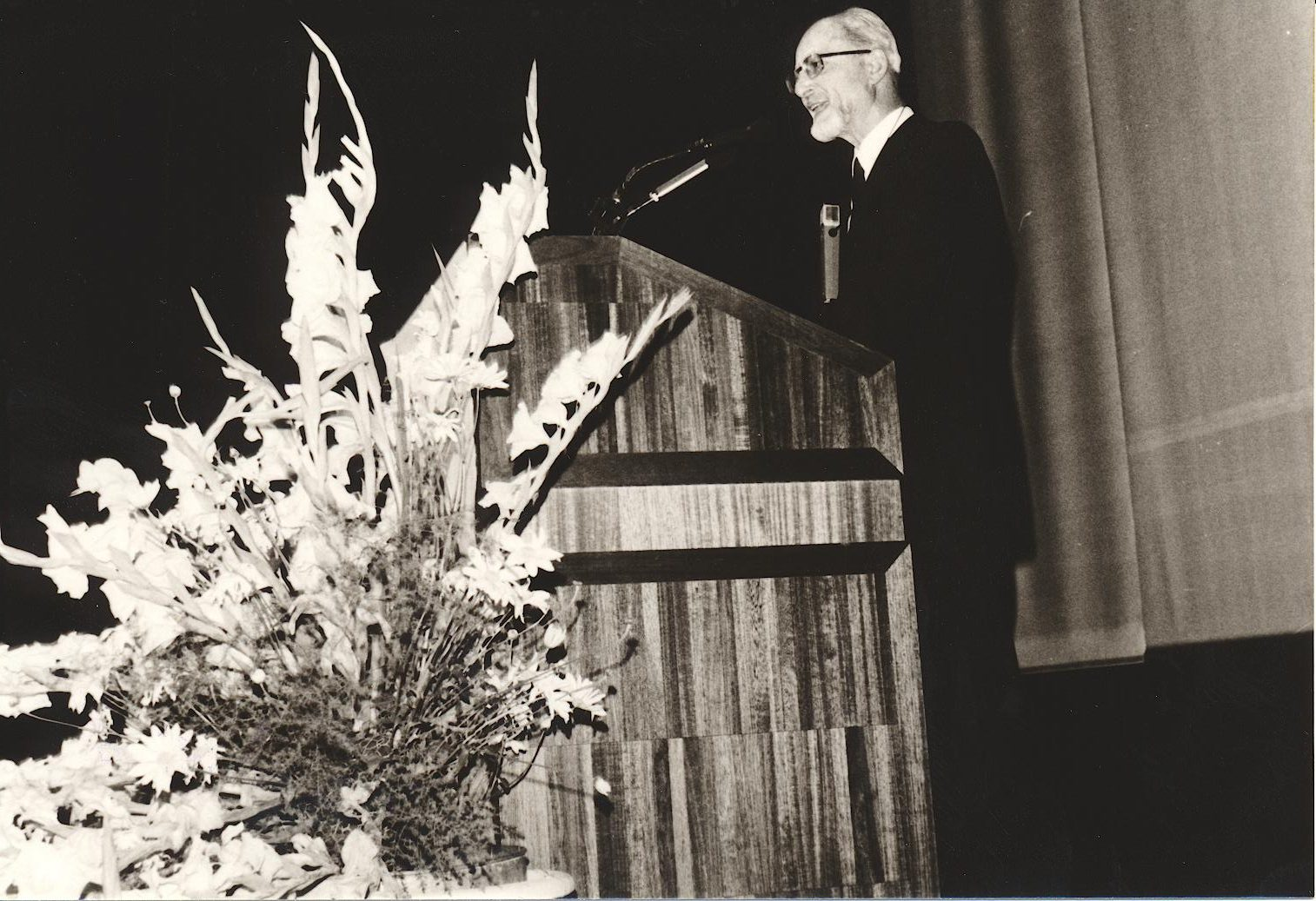 VIII. Internat. Imago Mundi-Kongress 1980, Innsbruck, Prof. DDr. Claus Schedl