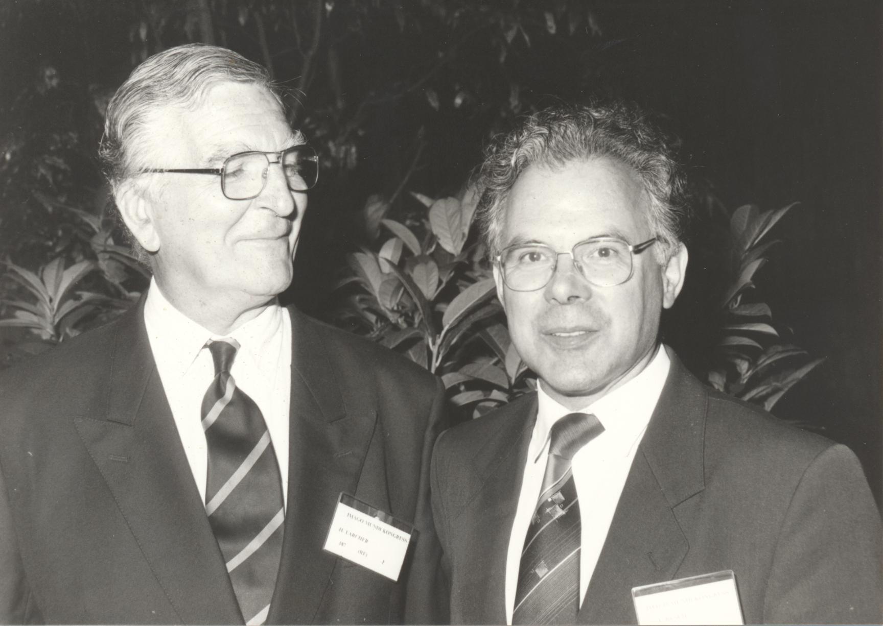 XII. Imago Mundi-Kongress 1989, Innsbruck, Dr. Hubert Larcher, Prof. Andreas Resch