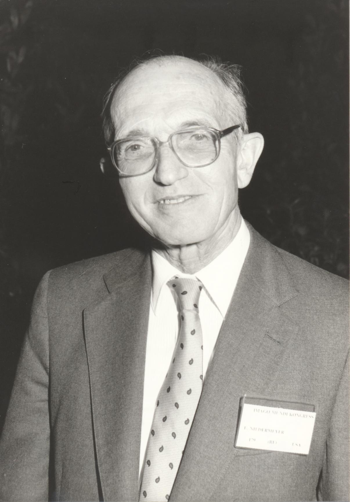 XII. Imago Mundi-Kongress 1989, Innsbruck, Prof. Dr. Ernst Niedermeyer