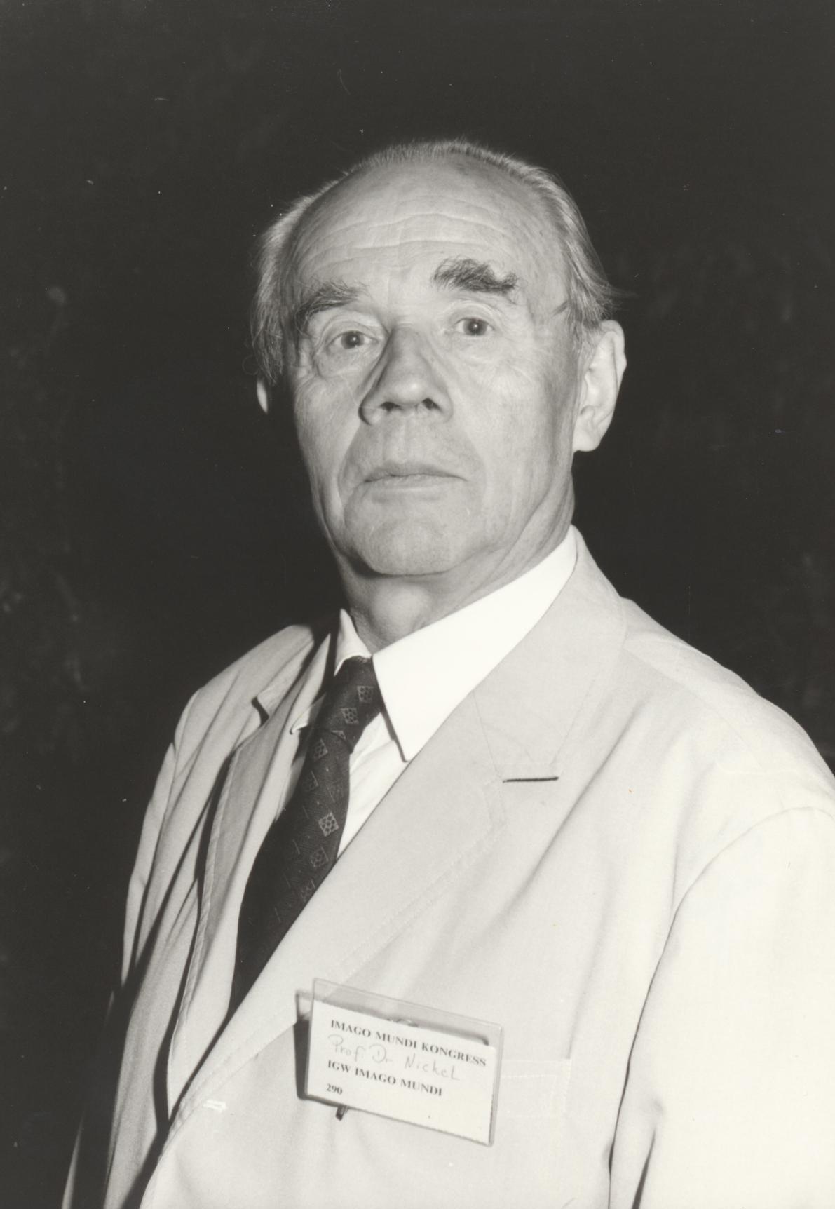 XIII. Imago Mundi-Kongress 1991, Innsbruck, Prof. Dr. Erwin Nickel