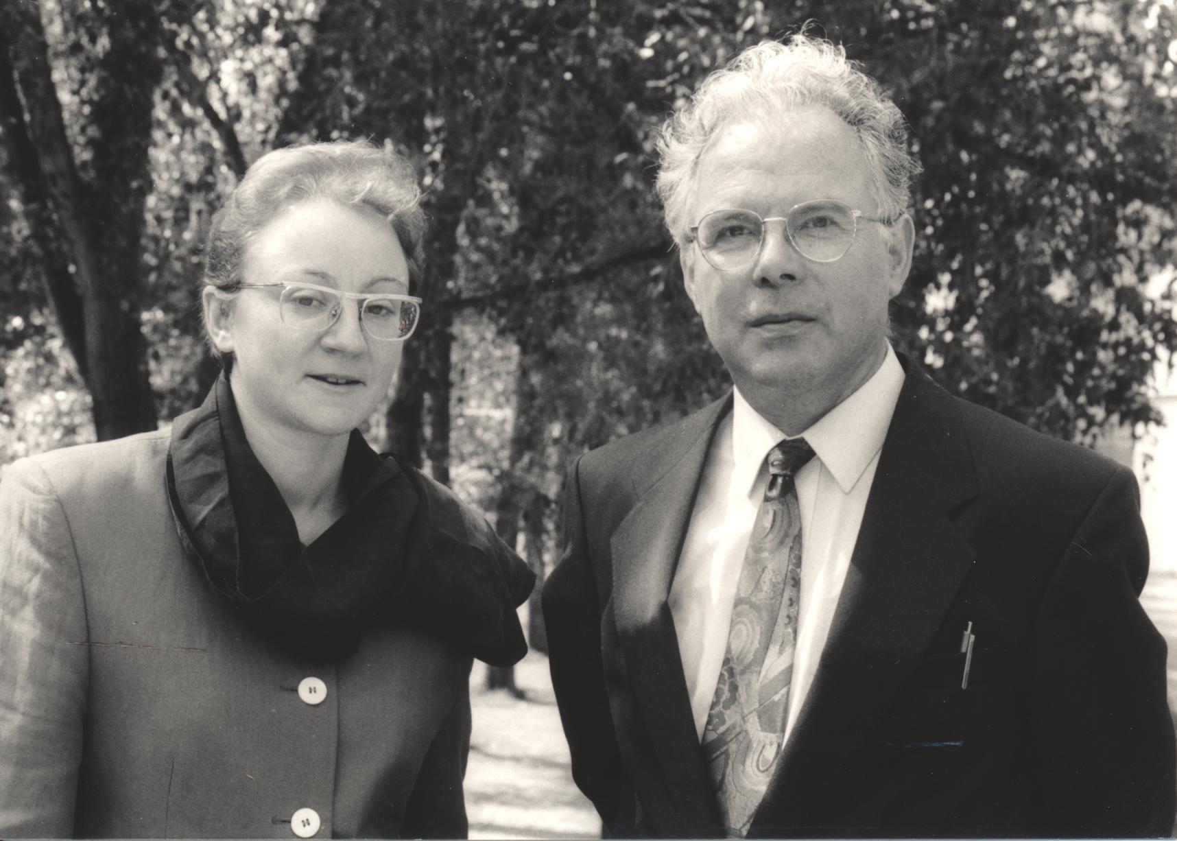XIV. Imago Mundi-Kongress 1993, Innsbruck, Dr. Angelika Malinar, Prof. Andreas Resch